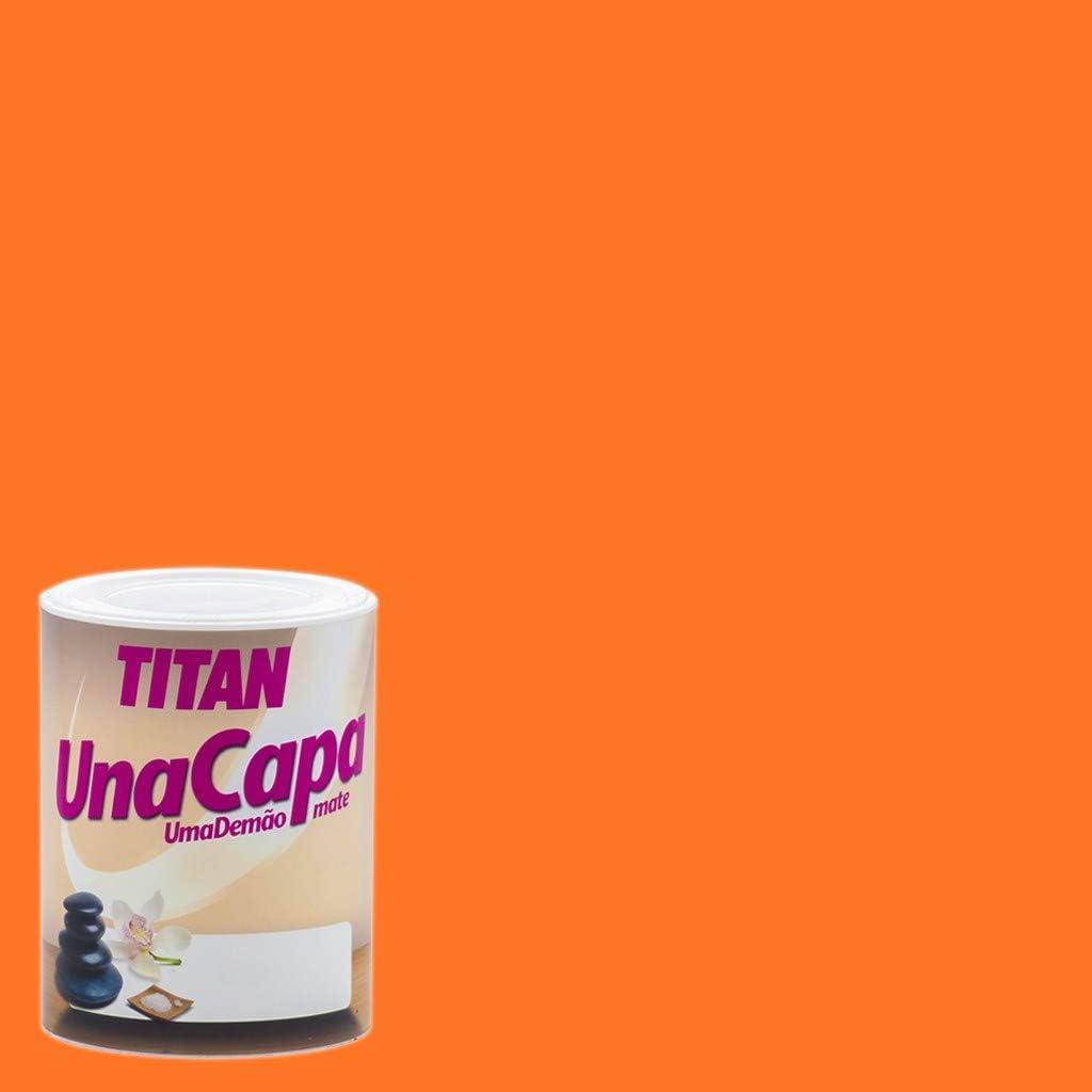 TITAN - PINTURA PLASTICA UNA CAPA NARANJA 750ML
