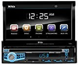 "BOSS Audio BV9976B Car DVD Player – Single Din, Bluetooth Audio & Hands-Free Calling, Built-in Microphone, CD/MP3/USB/SD Aux-in, AM/FM Radio Receiver, 7"" Digital LCD Display, Multi-color Illumination"