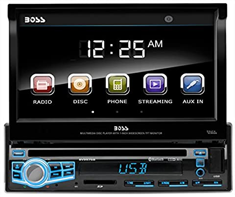 BOSS Audio BV9976B Single Din, Touchscreen, Bluetooth, DVD / CD / MP3 / USB / SD AM/FM Car Stereo, 7 Inch Digital LCD Monitor, Wireless Remote, Multi-Color (Radio For Kia Forte)