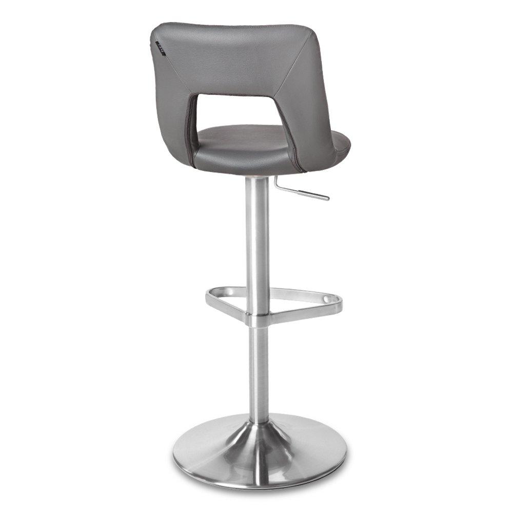 Zuri Furniture Slate Jazz Adjustable Height Swivel Armless Bar Stool