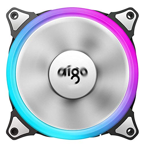 Aigo 120mm Icy Neon Purple LED Computer PC Cooler Case CPU Radiator Cooling Fan