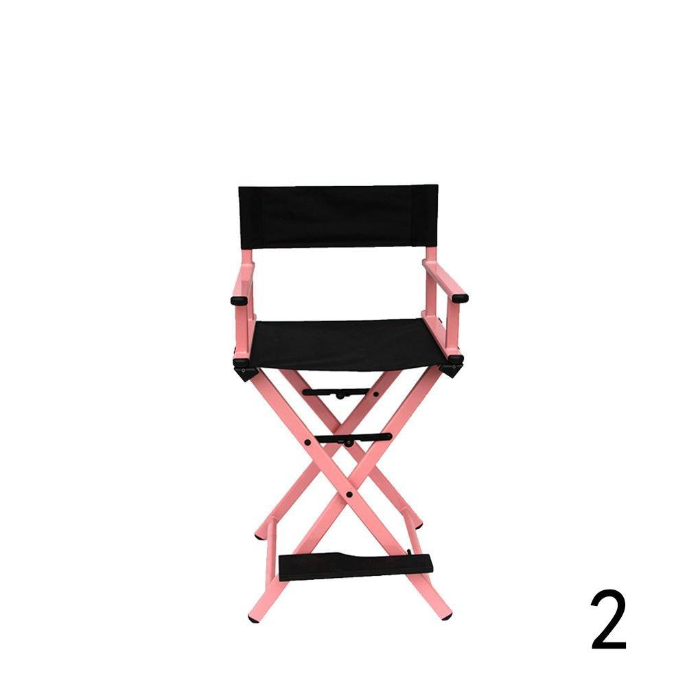Gracefulvar Rolling Studio Makeup Artist Cosmetic Case Chair (Pink)