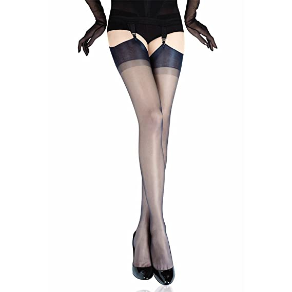 a43ad9a8a Gio Women s Cuban heel FF stockings - FULL CONTRAST - XXL - size 12.5 12.5  (6 4-6 6