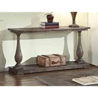 Modern Rustic Wood Console Sofa Table with Bottom Shelf - Includes Modhaus Living Pen