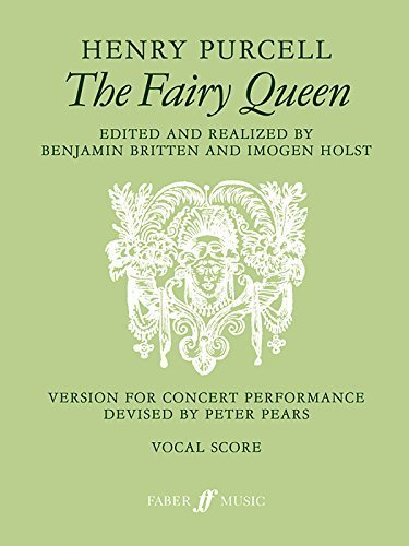 The Fairy Queen: Vocal Score (Vocal Score) (Faber Edition) by Purcell, Henry (1998) Paperback
