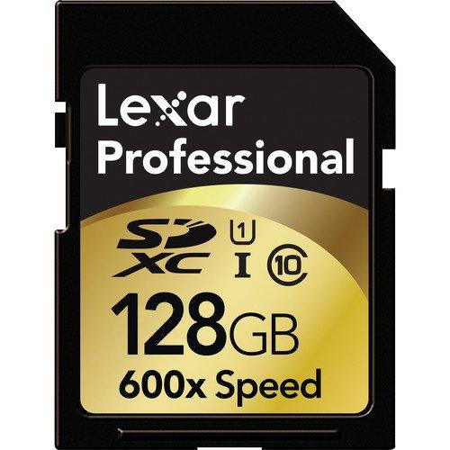Lexar Professional 600x 128GB SDXC UHS-I Flash Memory Card LSD128CRBNA600 by Lexar