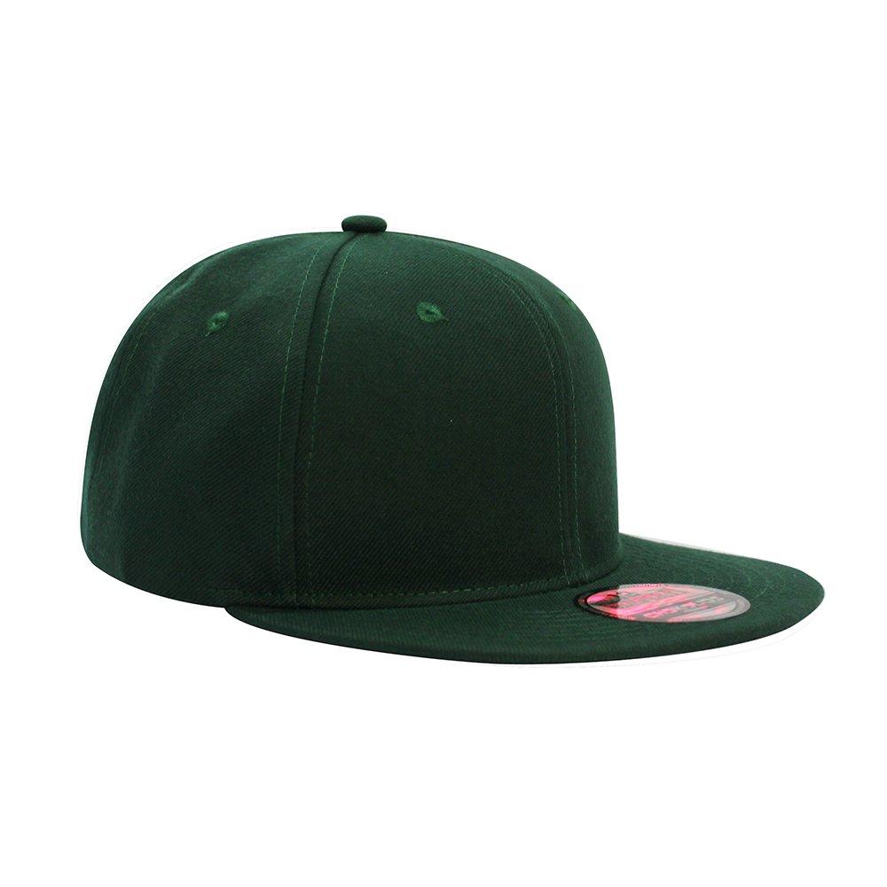 Flat Visor Snapback Hat Blank Cap Baseball Cap - 14 Colors