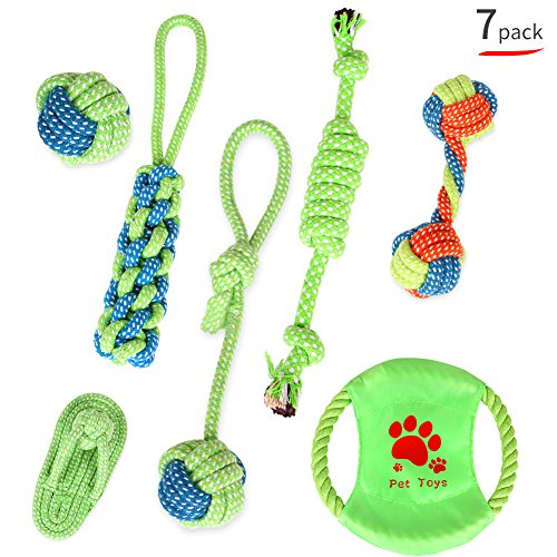 Pet Dog Rope Toys for Small and Medium Dogs Puppy Chew Toys Dog Rope(Set of 7) by Dtour