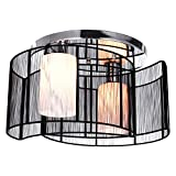 LightInTheBox Ceiling Light Modern Design Bedroom 2 Lights Black, Modern Home Ceiling Light Fixture Flush Mount, Pendant Light Chandeliers Lighting, Max 40W