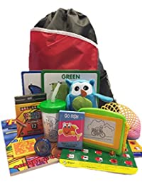 Travel Activity Bag Kit for Kids - Keep Preschool Children Busy in the Airplane orCar.