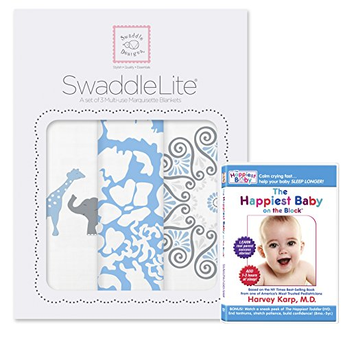 SwaddleDesigns SwaddleLite Marquisette Blankets Happiest