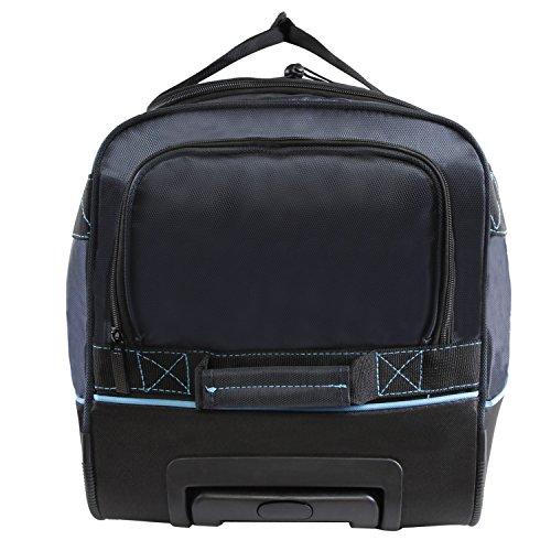 "51F11yrfN9L - Perry Ellis Men's 24"" Lightweight Rolling Bag-A324 Duffel Bag, Navy/Blue, One Size"