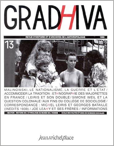 Livres gratuits Cahier Gradhiva, numéro 13 pdf epub