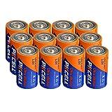 D Cell Size LR20 1.5V Alkaline Dry Batteries 12Pack