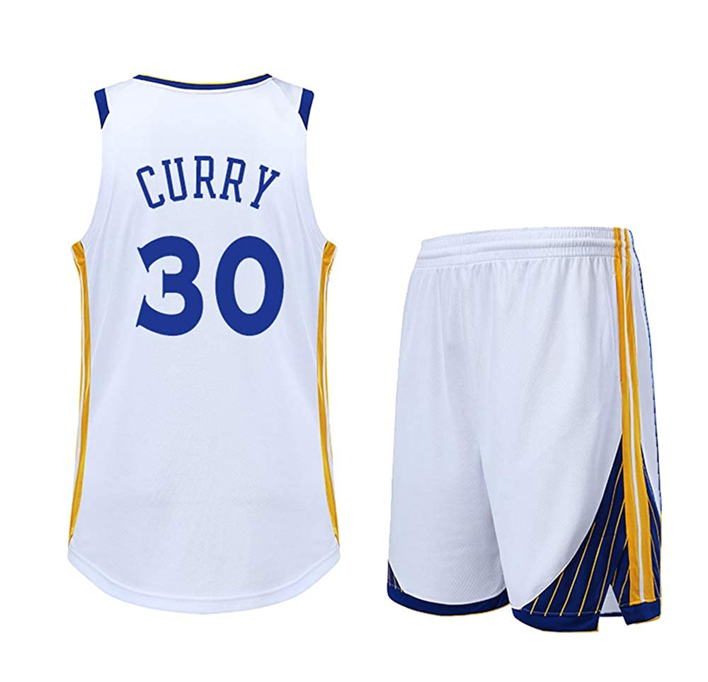 blanc XXL DERTL Est Un Cadeau pour Les Fans   30 de Stephen Curry, Les Fans du oren State Warriors. Maillots de Basket-Ball à Manches Courtes. Gilets pour l'été.