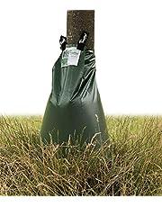 treebag 5 stuks PVC bewateringszakken van polyvinylchloride, bewateringszak/waterzak voor bomen, UV-stabiele en versterkte gladde polyvinylchloridefolie, 92x86 cm, ca. 75l, kleur: groen