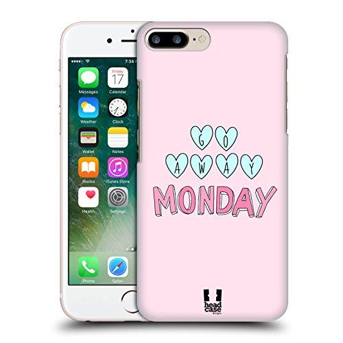 Head Case Designs Go Away Monday Strati Pastello Cover Retro Rigida per Apple iPhone 7 Plus / 8 Plus