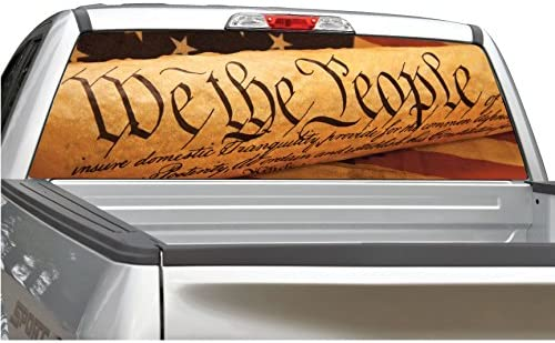 """Choose Size /""""We The People/"""" Window Decal Graphic Sticker Car Truck SUV"""