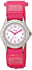 Timex Kids TW7B99900 My First Timex Outdoors Watch with Pink Fast Wrap Velcro Strap