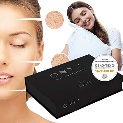 Onyx Anti-Aging, rejuvenating & deep Cleansing Pillow Case - with Luxury Egyptian Cotton - Pillow ()