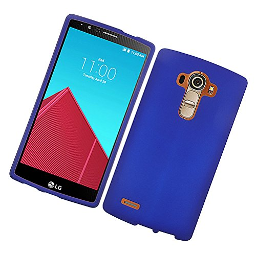 Cell Accessories For Less (TM) LG G4 - Rubberized Case Cover Blue 02 Bundle (Stylus & Micro Cleaning Cloth) - By TheTargetBuys