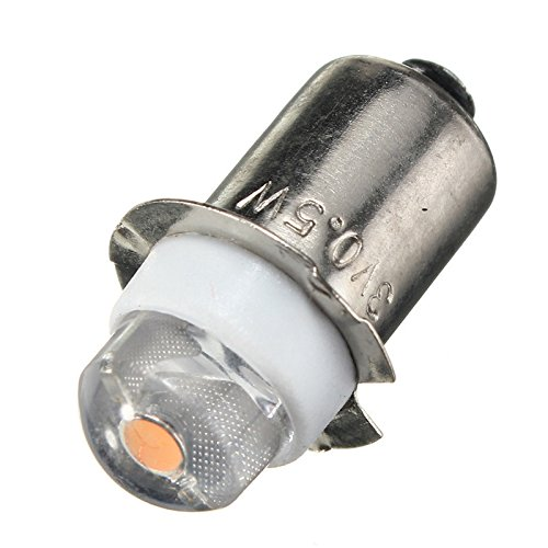 Aa Flashlight Replacement (4.5V 0.5W P13.5S LED Upgrade Bulb For Flashlight, PR2 Bulb Replacement 2/3/4 C/D AA Cell Warm White)