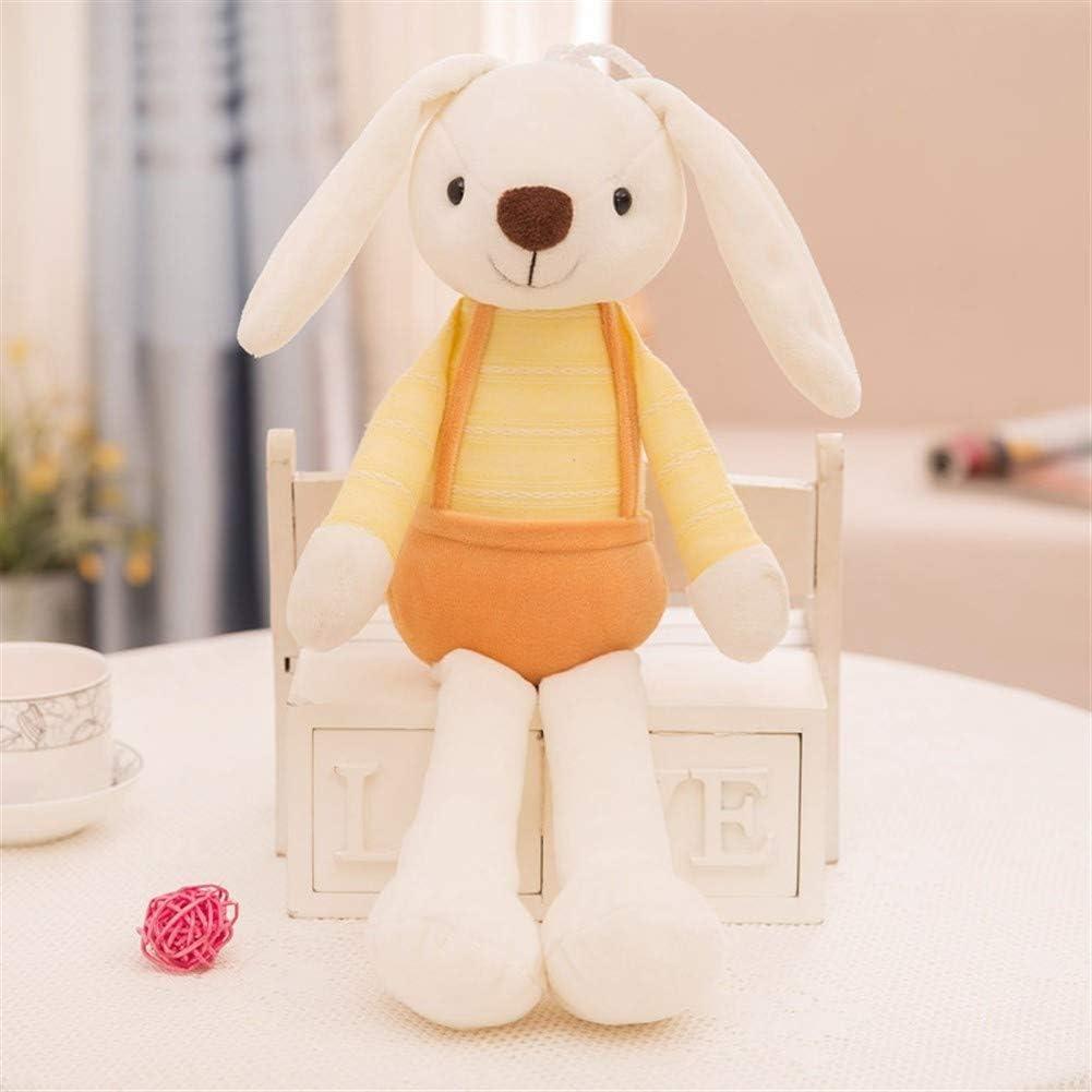 FANFAN Juguetes de peluche, amarillo lindo del caramelo de azúcar Suaviza conejo Ragdoll Almohada Juguete suave, cómodo Relleno de Down algodón acolchado, Apto for niños de las niñas regalos de vacaci: Amazon.es: