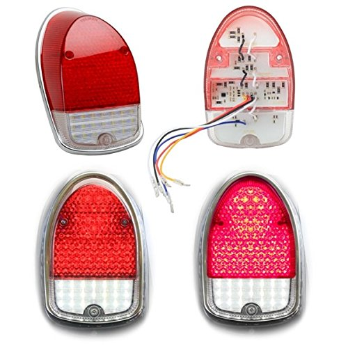 LED Tail Light Lens For Vw Bug 1968-1970, Left & Right - Pair