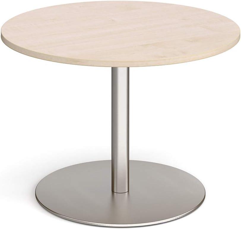 White brushed steel frame Mr Office Eternal circular boardroom table 1200