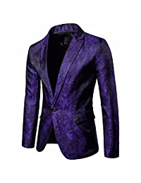 Theshy Charm Men's Casual One Button Fit Suit Blazer Coat Jacket Tops