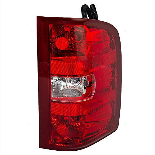 BROCK Passengers Taillight Tail Lamp Lens Replacement for Chevrolet GMC Pickup Truck 25958483