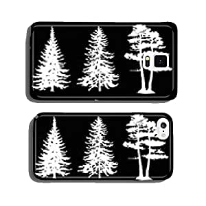 coniferous trees silhouettes, collection cell phone cover case iPhone6