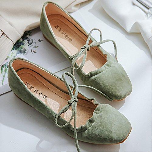 de Adulto Claro Baile Talla de de 5cm 5cm Hutt Ballet Señora Zapatos 24 Verano Ligero Zapatillas a Suaves Gamuza Verde 22 qHOwxtY
