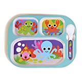 French Bull 11'' Kids Divided Tray - BPA-Free, Plate, Animals, Toddler, Durable, Drop Resistant - Ocean