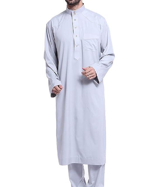 Amazon.com: winwinus hombre musulmán traje pantalones con ...