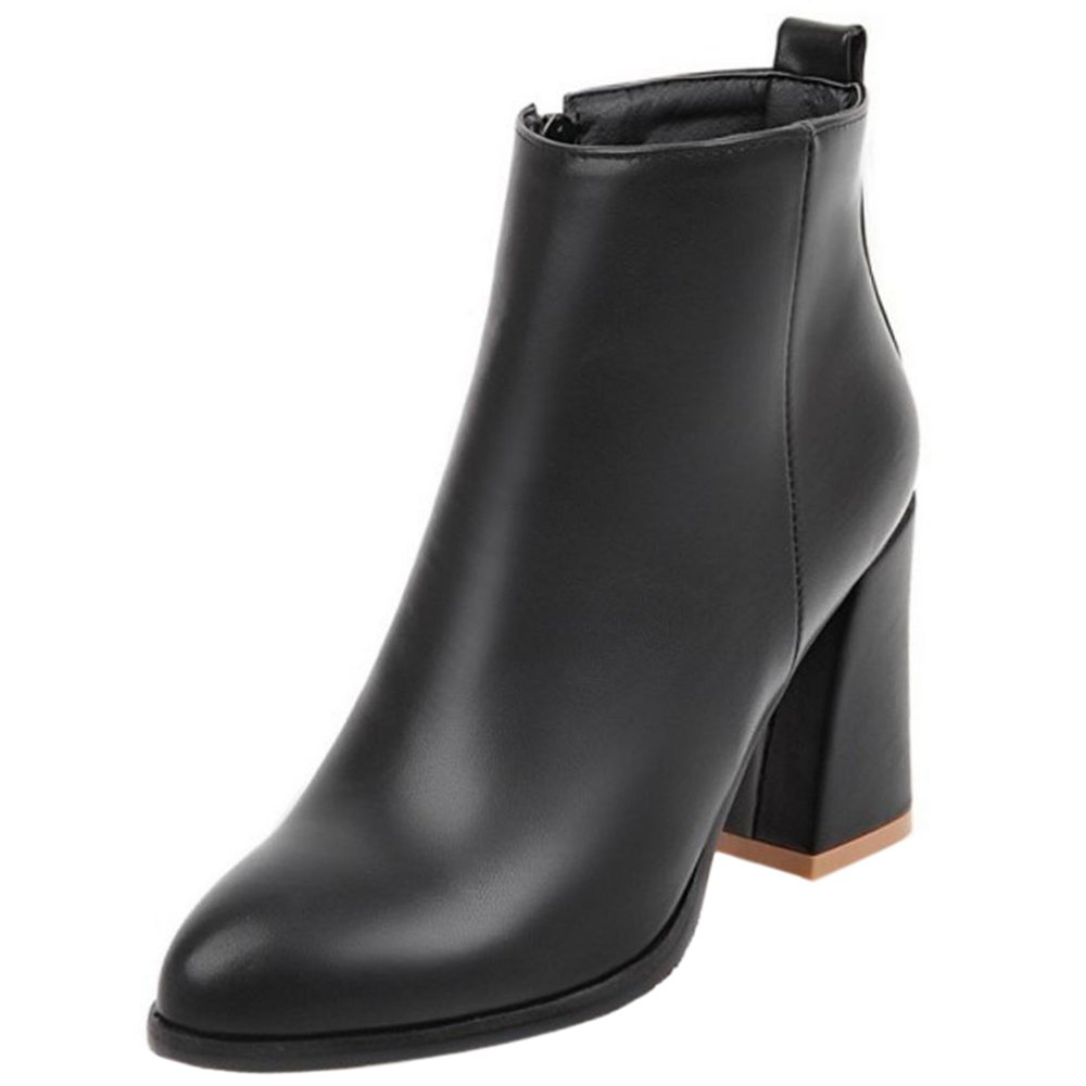 Melady Femmes Mode Dress Bottes de Femmes 11451 Dress Cheville Zipper 1-noir 95824a7 - deadsea.space