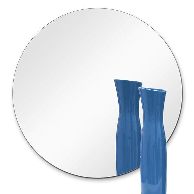 TroySys 8 Inch Round Mirror: 1/4 Inch Thick, Flat Polish Edge (10 ea. in 1 Box)