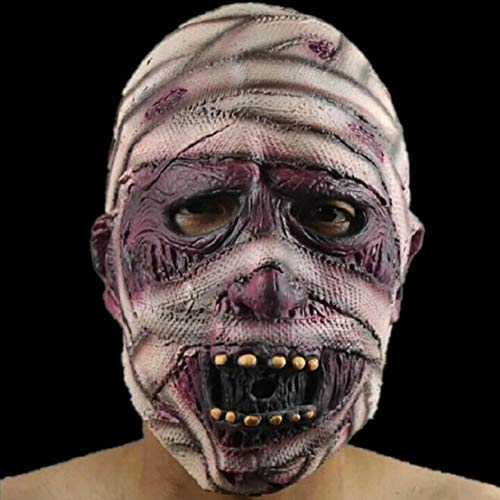 Sendk Halloween Makeup,Halloween Props Half Face Mask Horror Masquerade Mask Haunted House Decoration Party Decoration Props