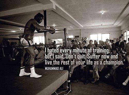 Muhammad Ali Boxer #01 - 12X18 Metal Aluminum Wall Art