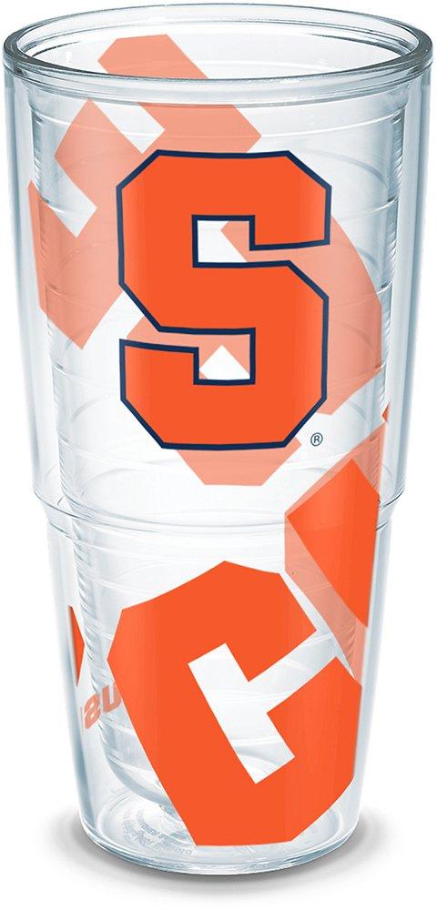 Tervis 1289326 Syracuse Orange Tumbler with Wrap 24oz Clear