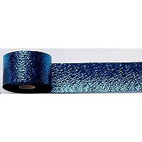 Blue Cracked Ice Streamer 2 pulgadas por 75 pies Suministros para fiestas Decoraciones
