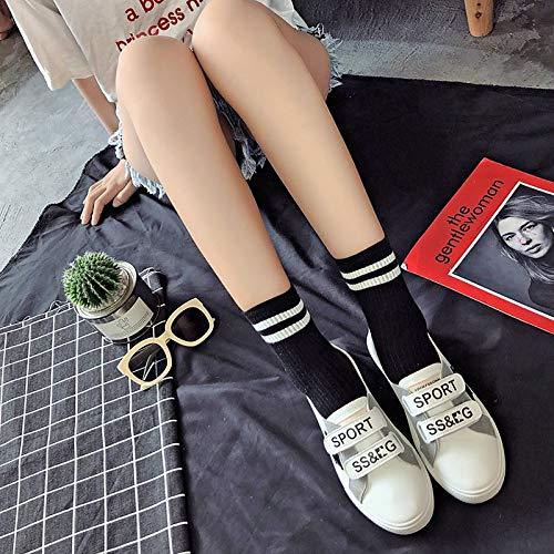Nero ZHZNVX Estate Punta Sneakers tonda da poliuretano piatto Black Giallo PU Comfort donna Slogan Tacco Scarpe rxwrfFq7