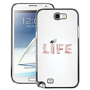 SKCASE Center / Funda Carcasa - Ama la vida - Samsung Note 2 N7100