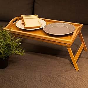 hankey ft01 bamboo breakfast table laptop desk bed serving tray w 39 handles foldable. Black Bedroom Furniture Sets. Home Design Ideas