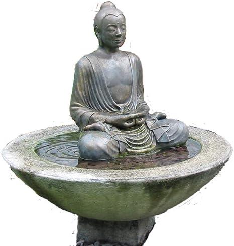 Piedra agua para jardín pluma estilográfica. Buda Patio fuente ...