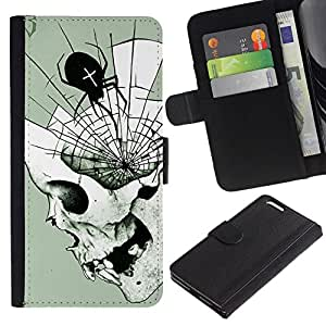 All Phone Most Case / Oferta Especial Cáscara Funda de cuero Monedero Cubierta de proteccion Caso / Wallet Case for Apple Iphone 6 PLUS 5.5 // Spider Web Mind Fangs Deep Halloween
