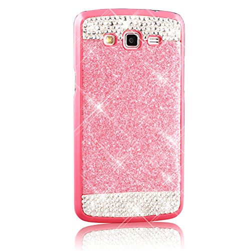 Sunroyal® Funda Carcasa Cáscara para Samsung Galaxy Grand 2 / Grand 2 Duos G7106 G7102 Case Cover Bling Lujo Hard Teléfono Accesorios PC Dura Ultra Slim Delgado Móvil Duro Tapa Cubierta Shell Estuche  Color2