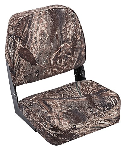 Wise Low Back Boat Seat, Mossy Oak Duck Blind Camo