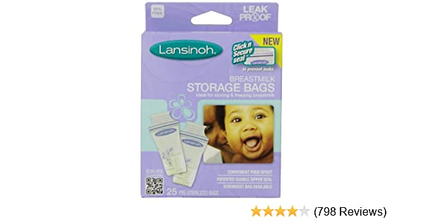 Amazon.com: Lansinoh Breastmilk Storage Bags, 25-Count Boxes (Pack of 9): Health & Personal Care