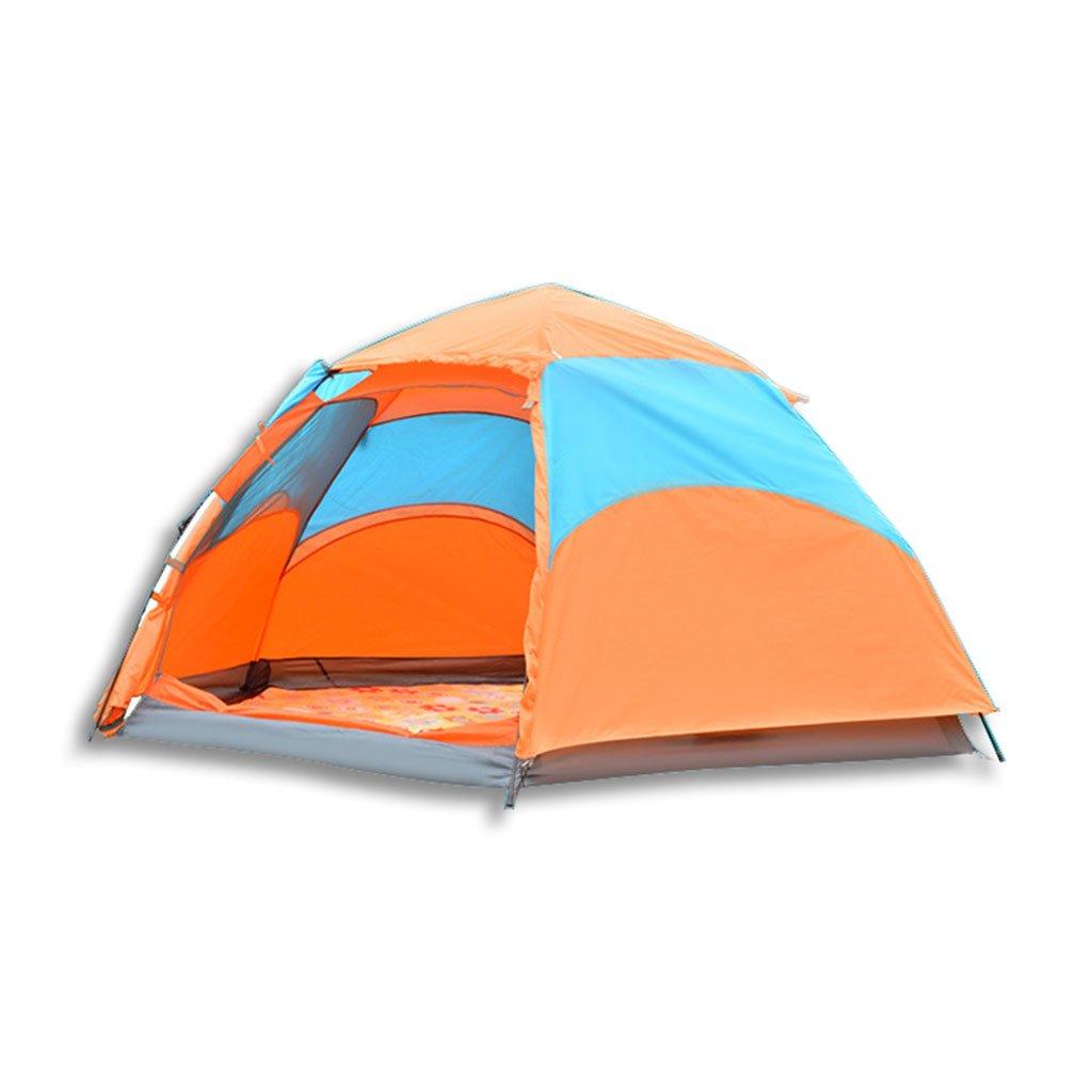 屋外完全自動テント、二階建てキャンプの幕張、六角形の雨避難所、建設する必要はありません(サイズ:94 * 74 * 78インチ)   B07CQZGV53